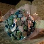 bouquet di bottoni fiocchi di riso
