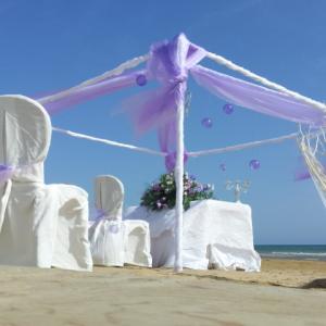 celebrazione matrimonio sulla sabbia