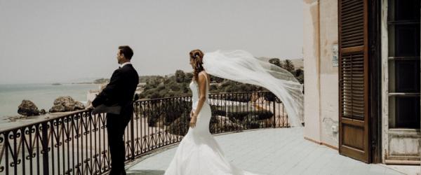 Secluded Beach Wedding at Falconara Castle, Sicily.
