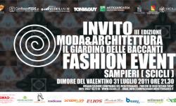 Domenica in Sicilia: Moda& Architettura ore 21.30 dimore del valentino Sampieri (Scicli)
