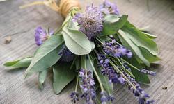 Trend Wedding Bouquet con erba fresca e piante aromatiche